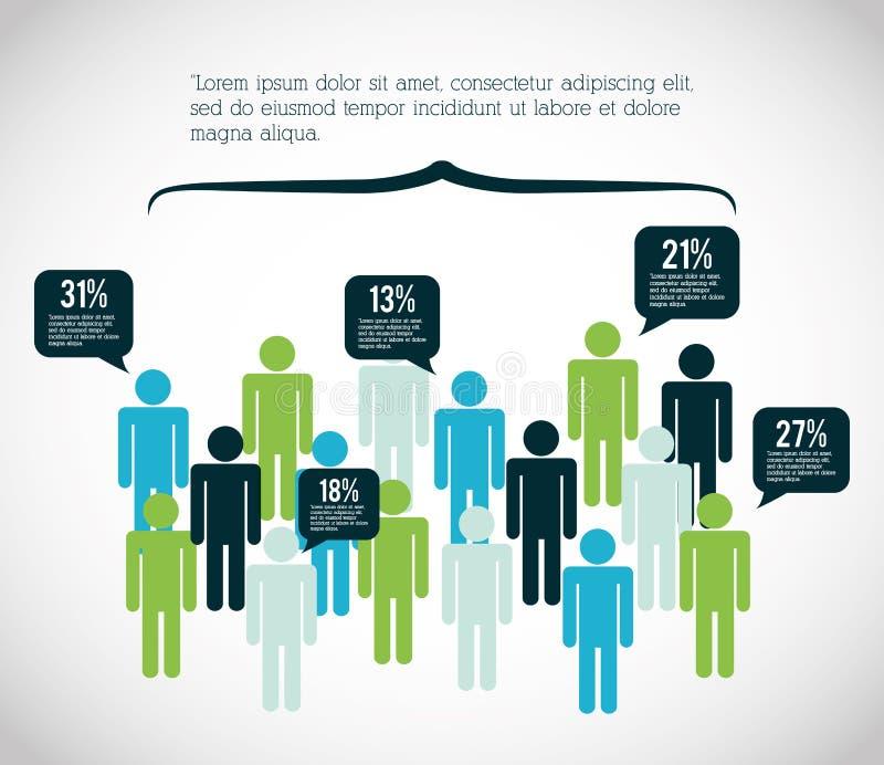 Infographic projekta ludzie ilustracja wektor