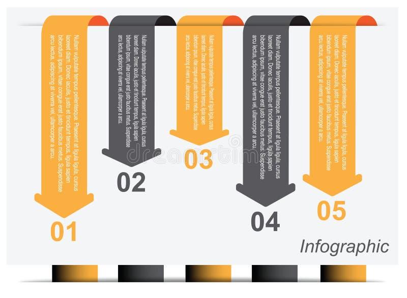 Infographic projekta szablon ilustracji