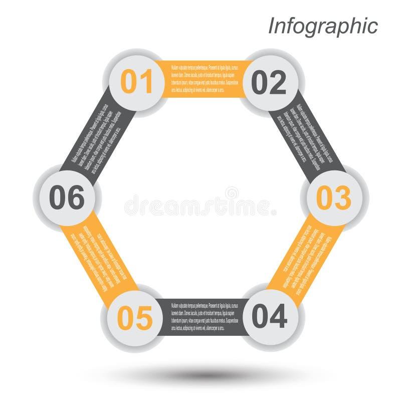Infographic projekta szablon ilustracja wektor