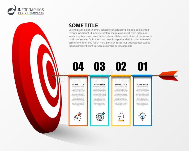 Infographic projekta szablon Biznesowy pojęcie z 4 krokami ilustracji