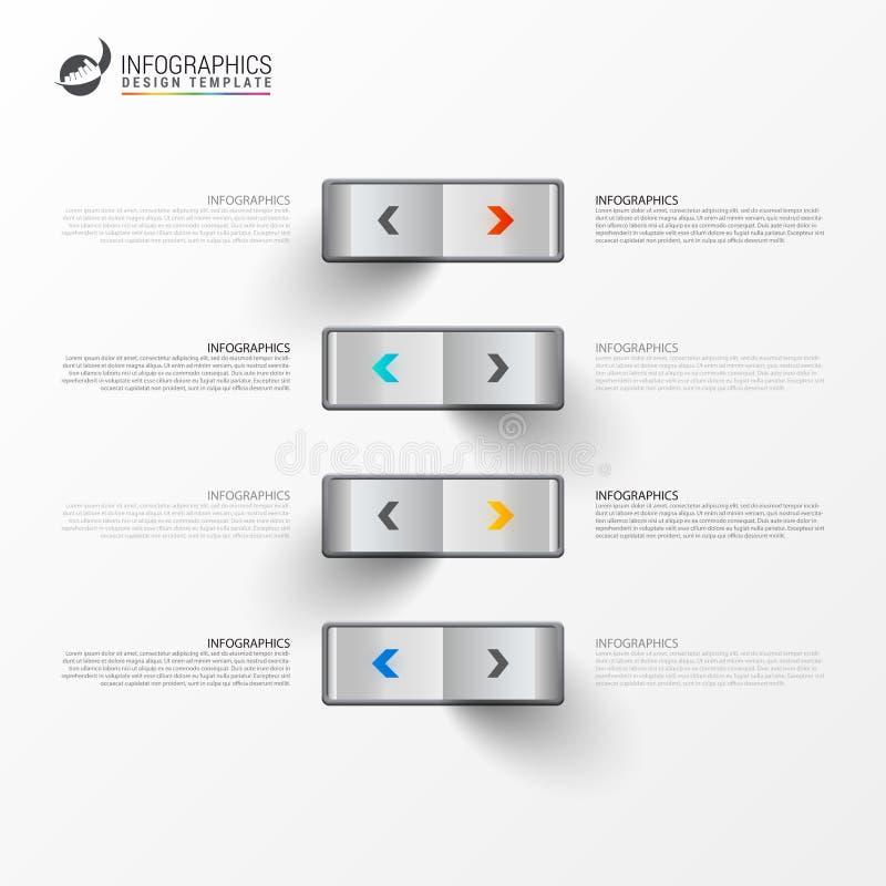 Infographic projekta szablon Kreatywnie pojęcie z 4 krokami royalty ilustracja