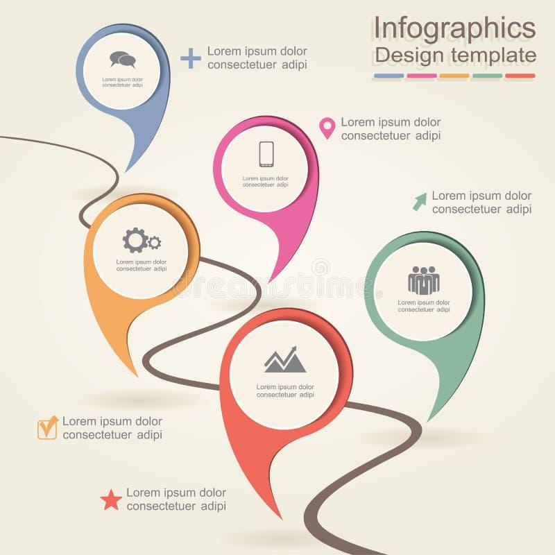 Infographic projekta szablon również zwrócić corel ilustracji wektora ilustracja wektor
