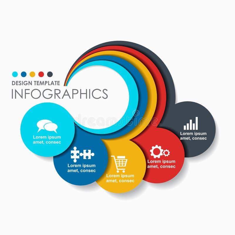 Infographic projekta szablon z miejscem dla twój teksta również zwrócić corel ilustracji wektora ilustracja wektor