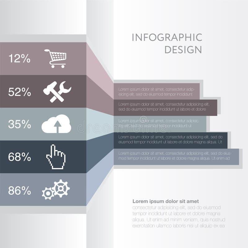 Infographic Projektuje numerową sztandaru szablonu grafikę lub strona internetowa układ royalty ilustracja