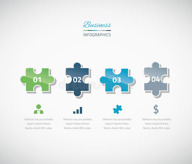 Preferred Infographic Puzzle Piece Business Vector Illustrat Stock  KE61