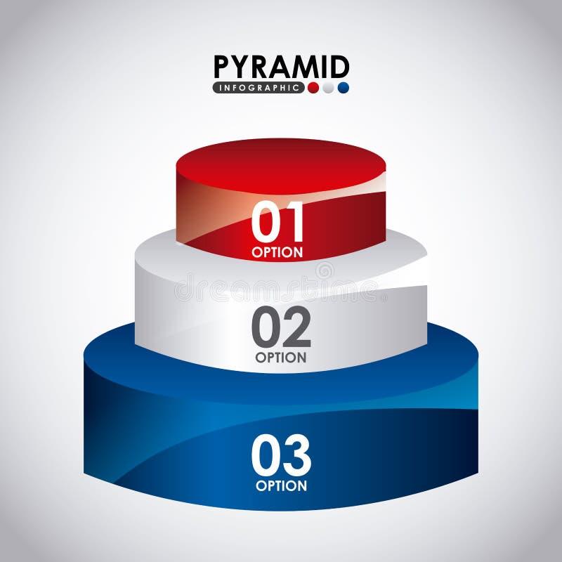 Infographic pyramid vektor illustrationer