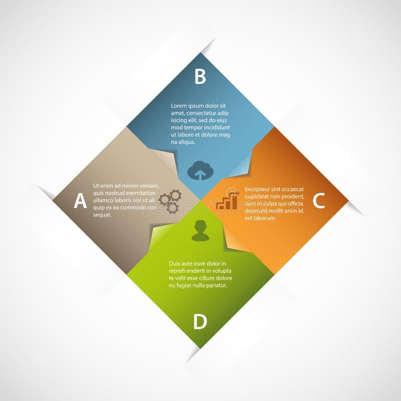 Infographic quadrato astratto illustrazione vettoriale