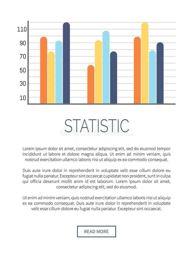 Infographic que compara resultados dos dados com as escalas ilustração do vetor