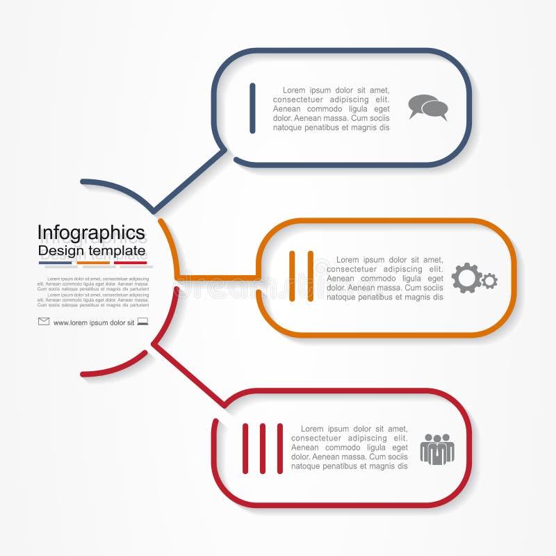 Infographic raportu szablon również zwrócić corel ilustracji wektora ilustracja wektor