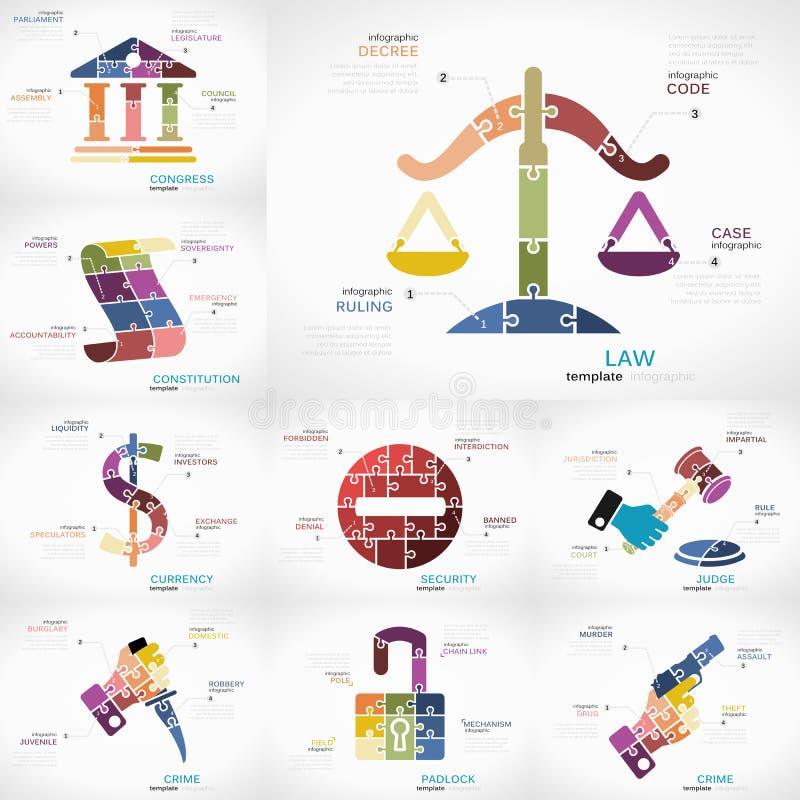 Infographic rechtvaardigheid stock illustratie