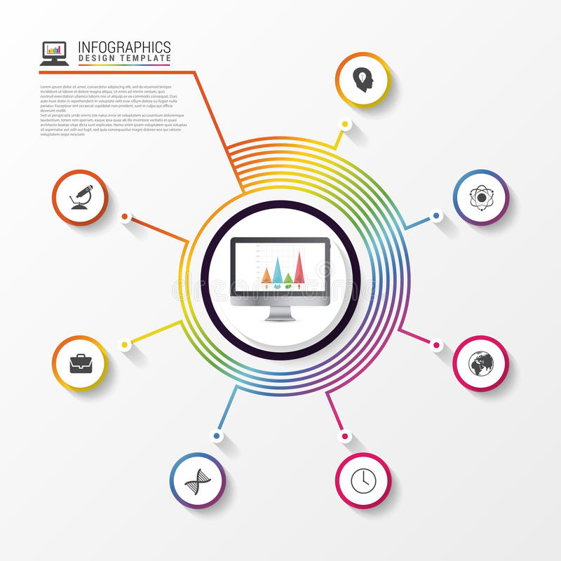 Infographic report concept. Modern business template. Vector. Illustration vector illustration