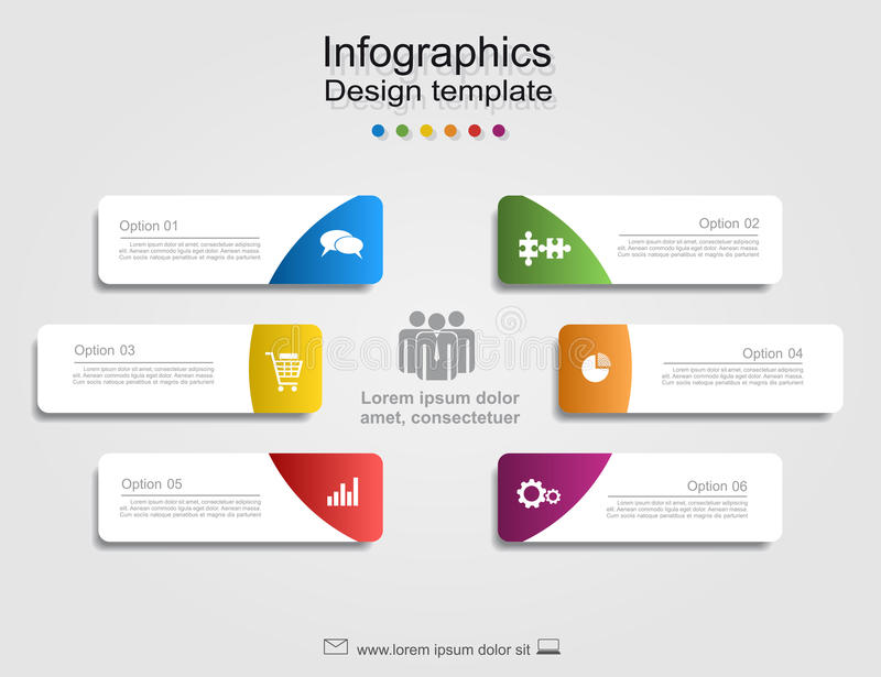 Infographic report template with place for data. Vector illustration. stock illustration