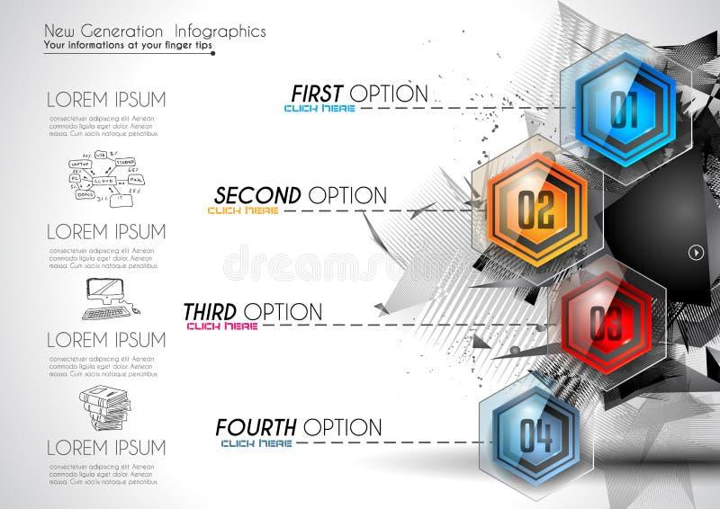 Infographic Resume La Plantilla Con Los Botones Del Vidrio De Las ...