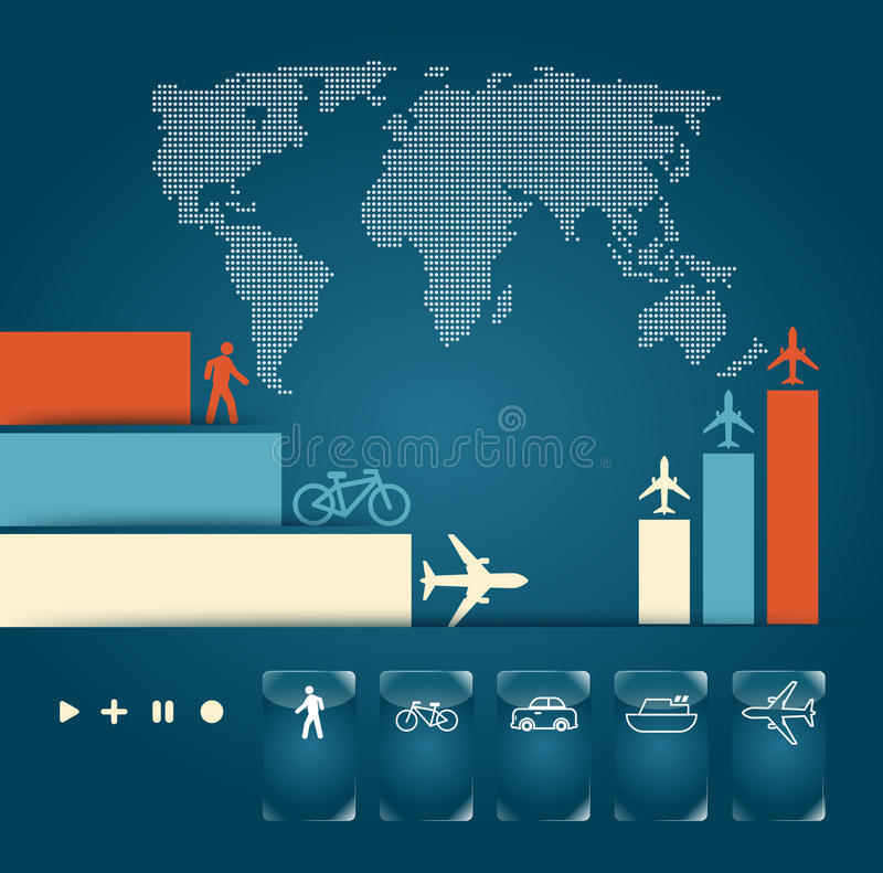 Infographic ruch drogowy ilustracja wektor
