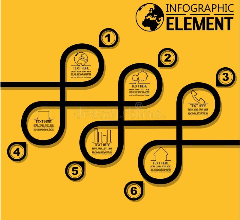 Infographic särar den enkla linjen stilmall med moment alternativ stock illustrationer