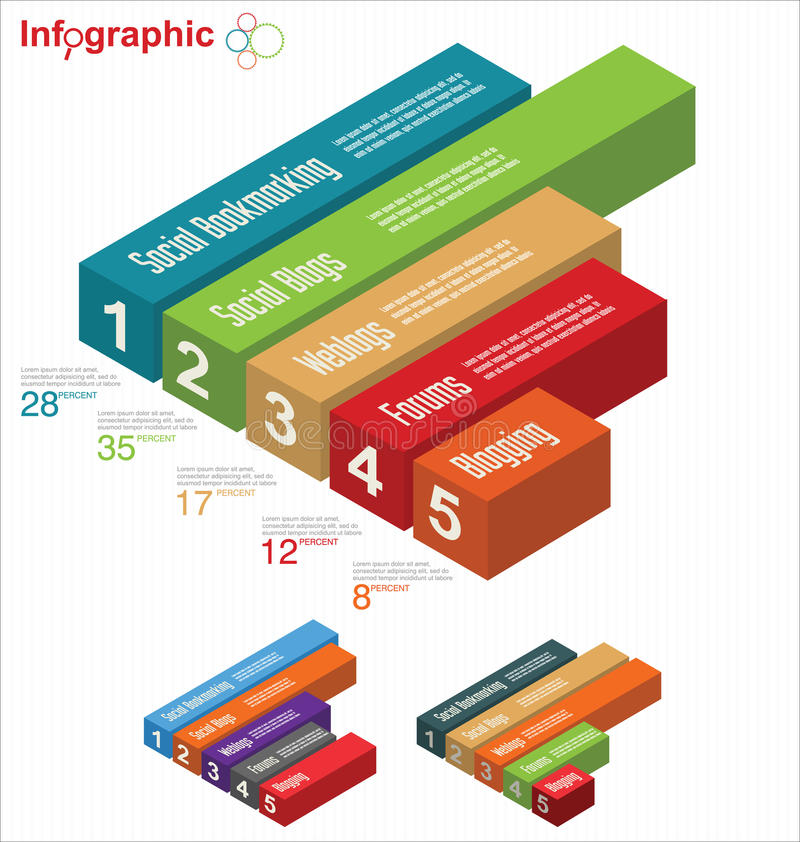 Infographic Schablone stock abbildung