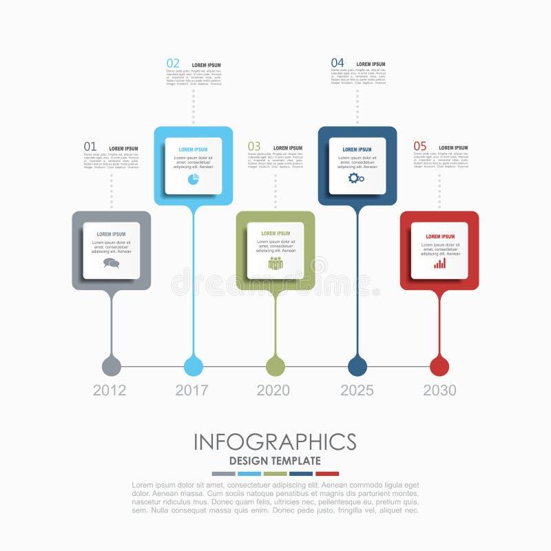 Infographic Schablone Auch im corel abgehobenen Betrag Verwendet für Arbeitsflussplan, Diagramm, Geschäftsschrittwahlen, Fahne, W lizenzfreie abbildung