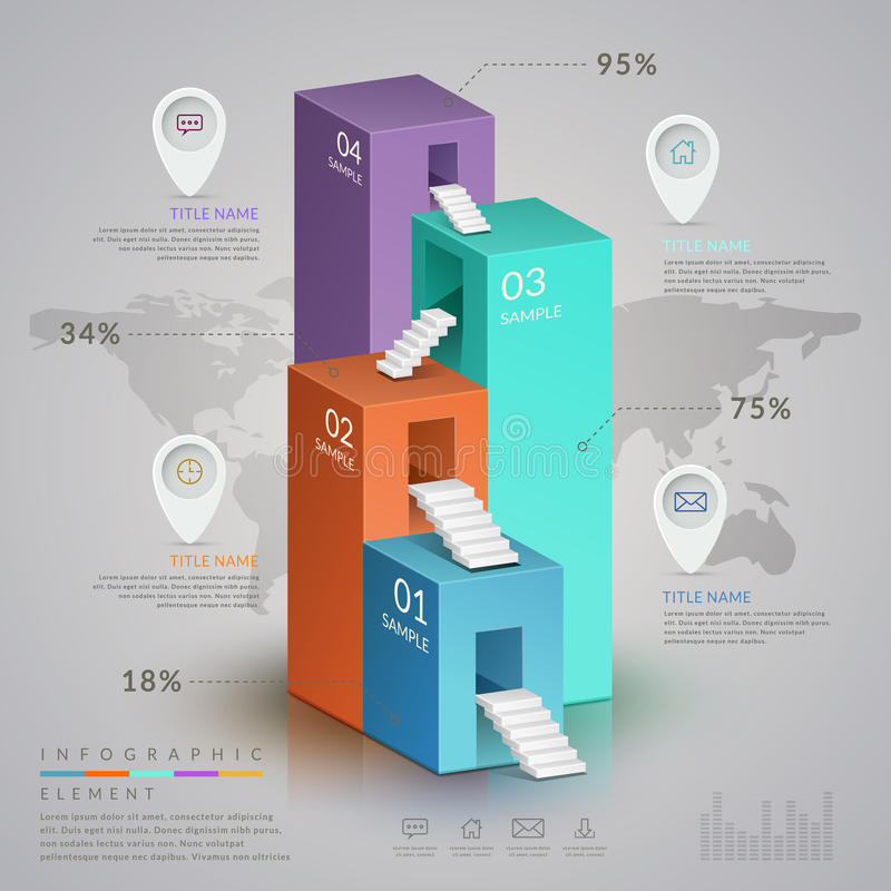 Infographic Schablone der Einfachheit lizenzfreie abbildung
