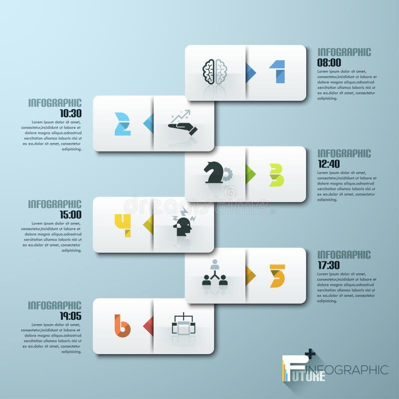 Infographic Schablone der minimalen Art des modernen Designs lizenzfreie abbildung