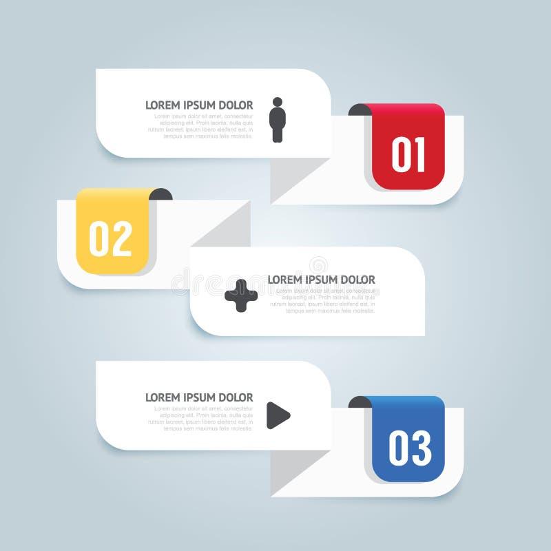 Infographic Schablone der minimalen Art des modernen Designs mit Alphabet/ lizenzfreie abbildung