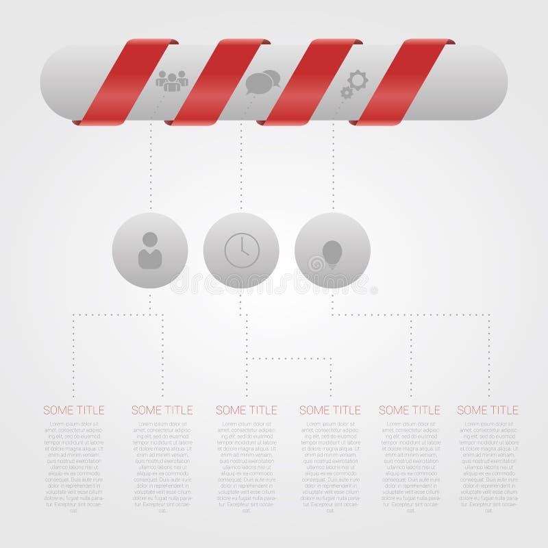 Infographic Schablone der minimalen Art des modernen Designs mit Pille vektor abbildung