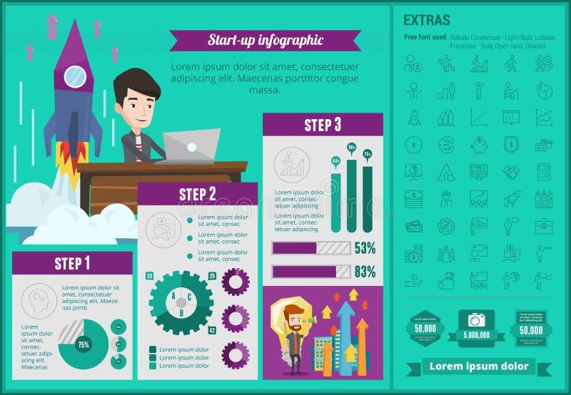 Infographic Schablone der Unternehmensgründung stock abbildung