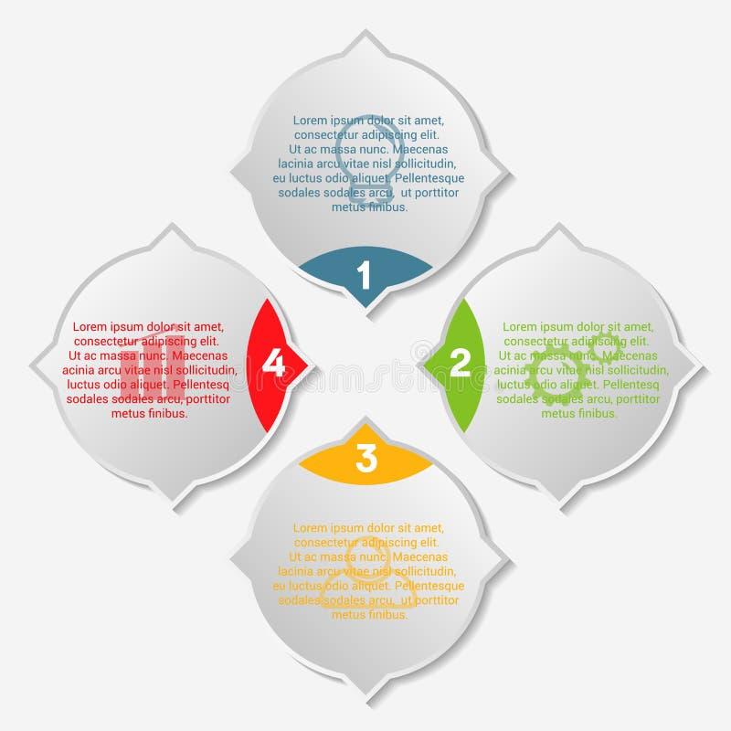 Infographic Schablone des Geschäfts stockfoto