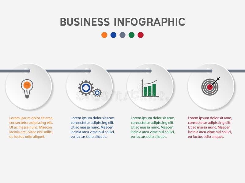 Infographic Schablone des Geschäfts lizenzfreie abbildung