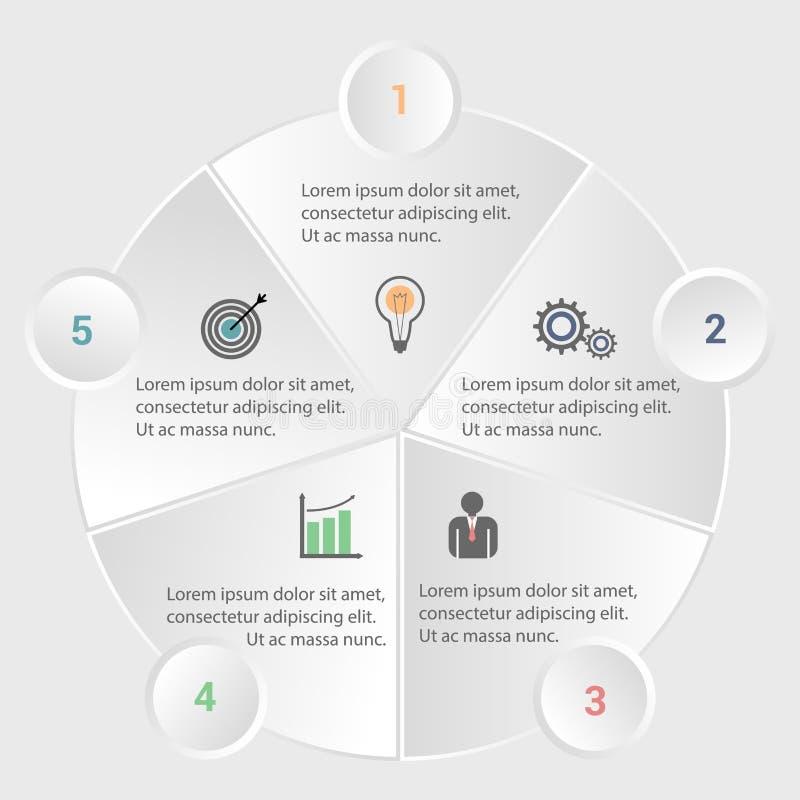 Infographic Schablone des Geschäfts stockfotografie