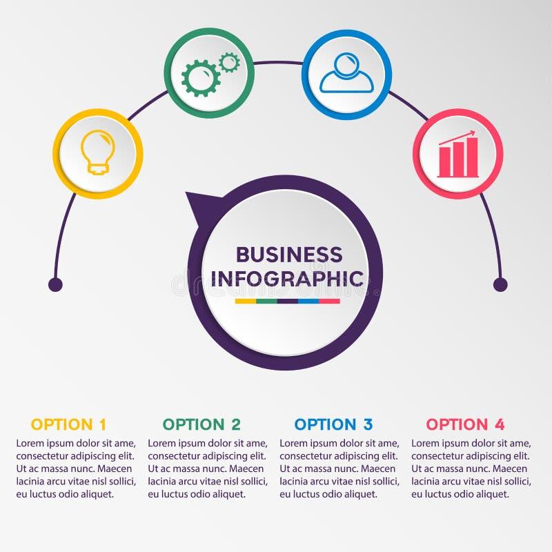 Infographic Schablone des Geschäfts lizenzfreie stockbilder