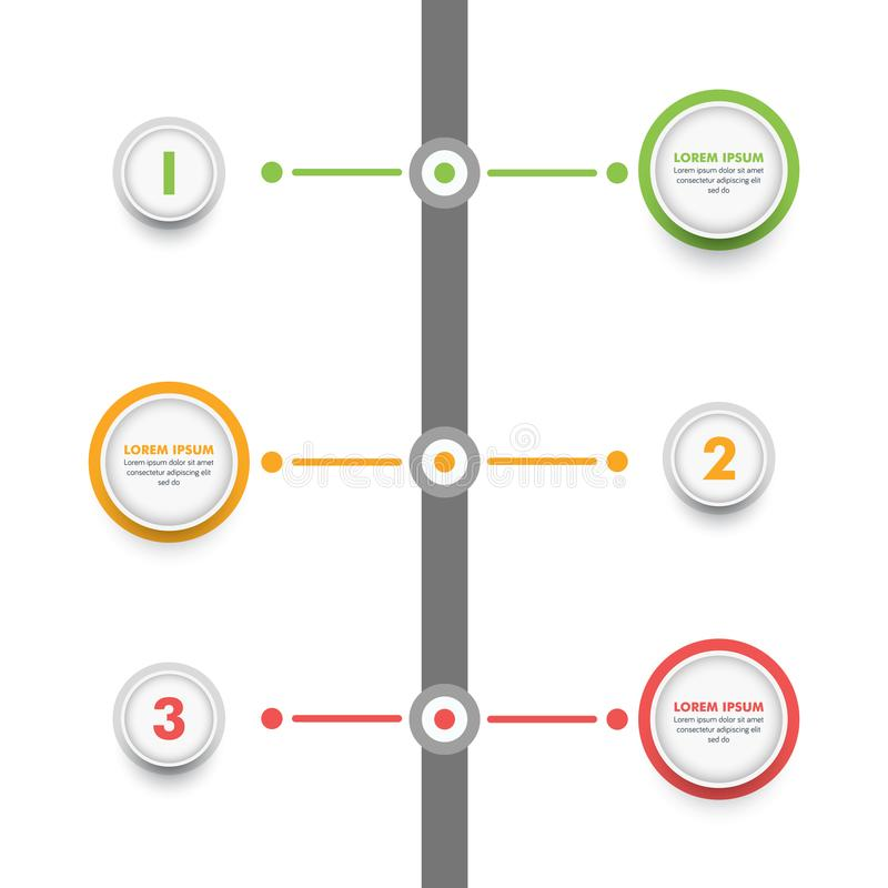 Infographic Schablone des Geschäfts Moderne Infographics-Zeitachse Desig stock abbildung