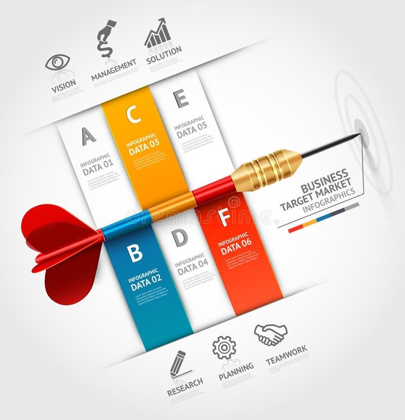 Infographic Schablone des Geschäftskonzeptes Geschäft ta lizenzfreie abbildung