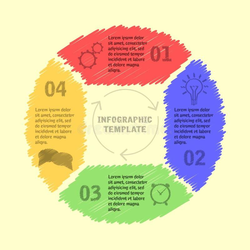 Infographic Schablone des Kreises stockfotografie