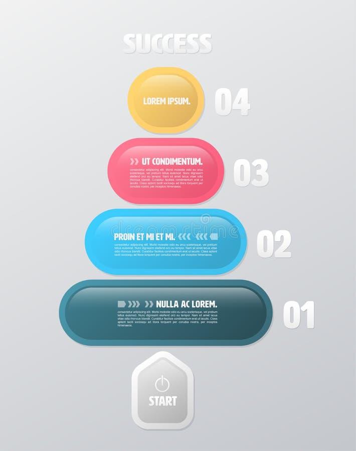Infographic Schablone des runden Rechtecks stock abbildung