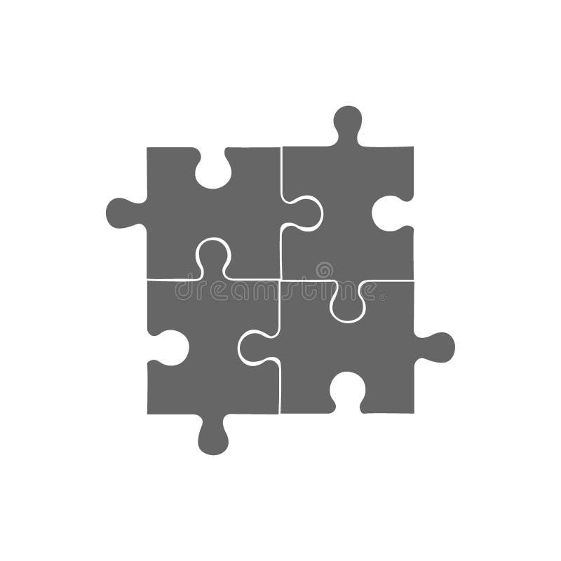 Infographic Schablone des Zusammenfassungspuzzlespiels mit erläuternder Textfeldwirtschaftsstatistik vektor abbildung