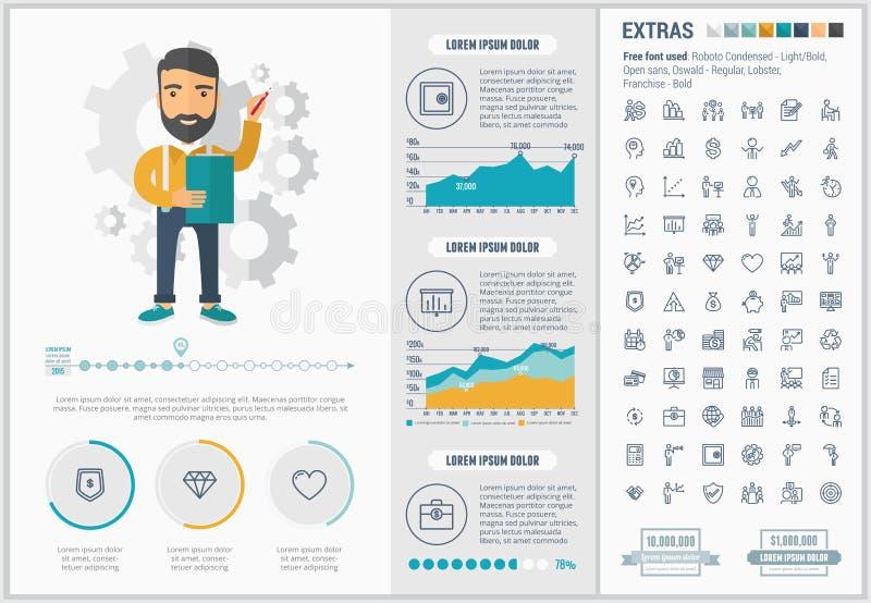 Infographic-Schablone Design des Geschäfts flache lizenzfreie abbildung