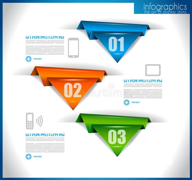 Infographic Schablone für Statistikdaten visualizat lizenzfreie abbildung