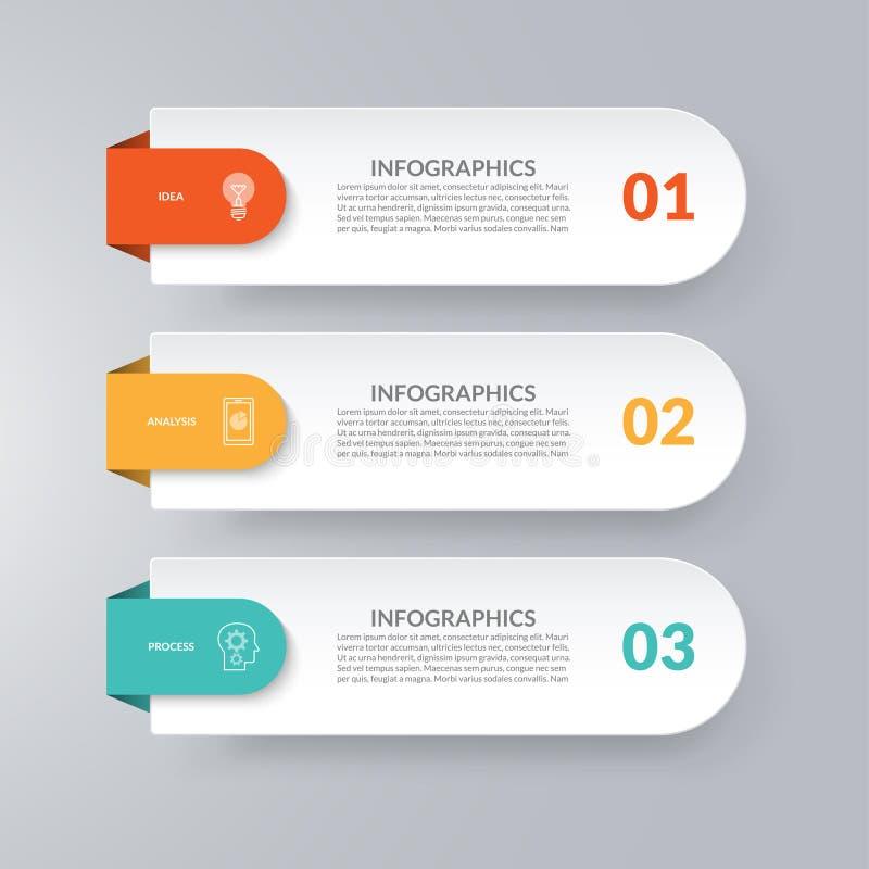 Infographic Schablone Geschäftskonzept mit 3 Wahlen vektor abbildung