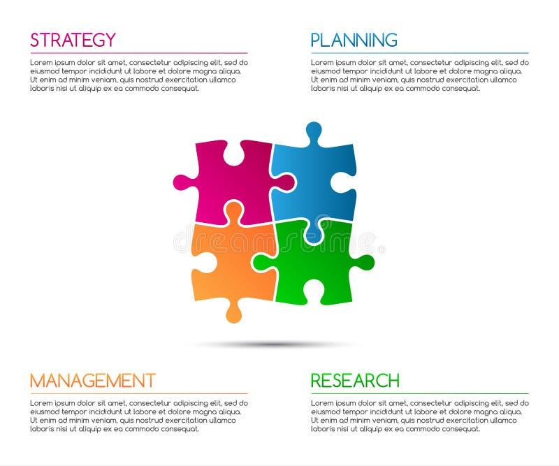 Infographic Schablone Minimalistic für Ihr Geschäftsprojekt lizenzfreie abbildung