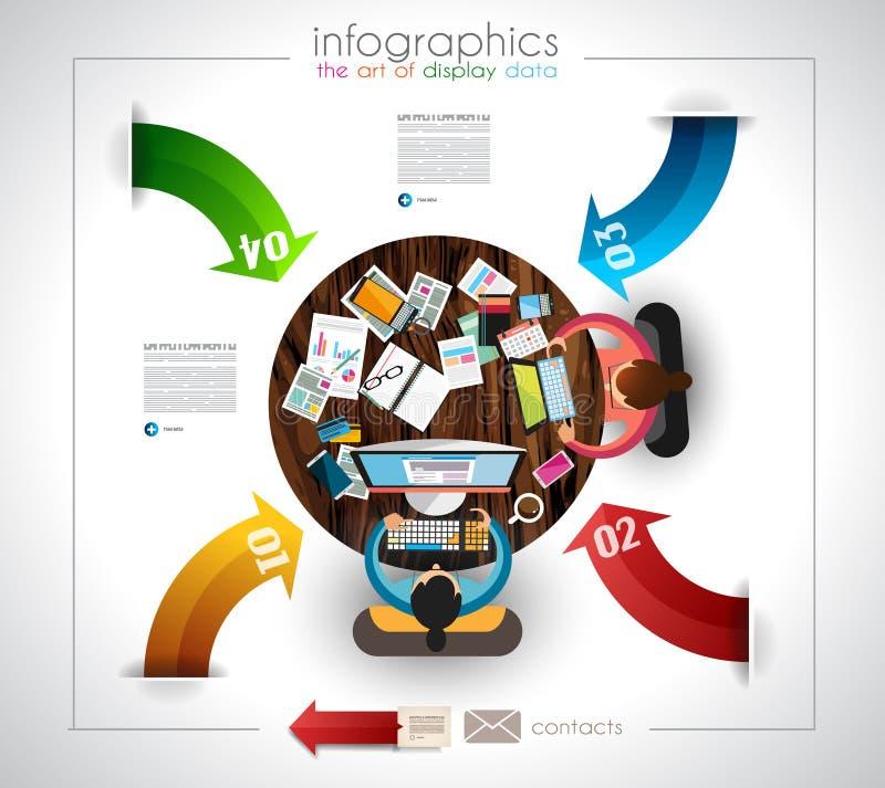 Infographic-Schablone mit flachen UI-Ikonen für ttem Klassifizierung lizenzfreie abbildung