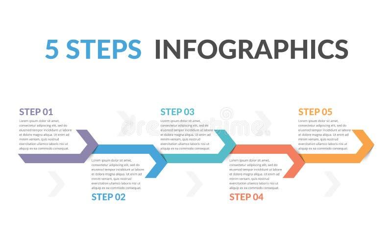 Infographic-Schablone mit Pfeilen lizenzfreie abbildung
