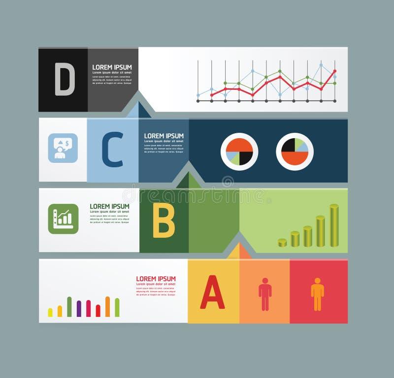 Infographic-Schablone modernes Design  lizenzfreie abbildung