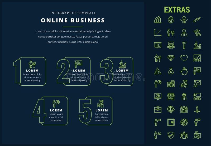 Infographic Schablone und Elemente des on-line-Geschäfts vektor abbildung