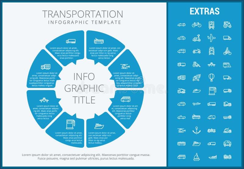 Infographic Schablone und Elemente des Transportes vektor abbildung