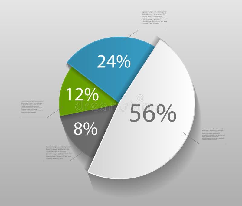 Infographic-Schablonen für Geschäfts-Vektor vektor abbildung