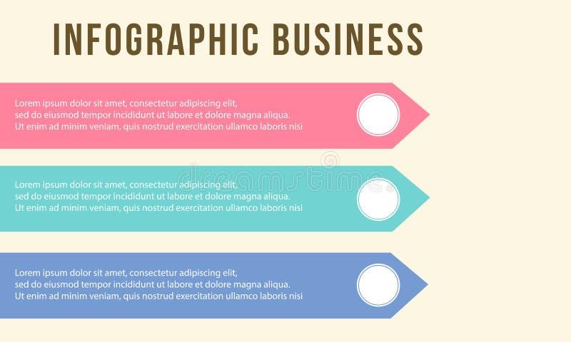 Infographic-Schritt-Geschäftsdiagrammdesign lizenzfreie abbildung