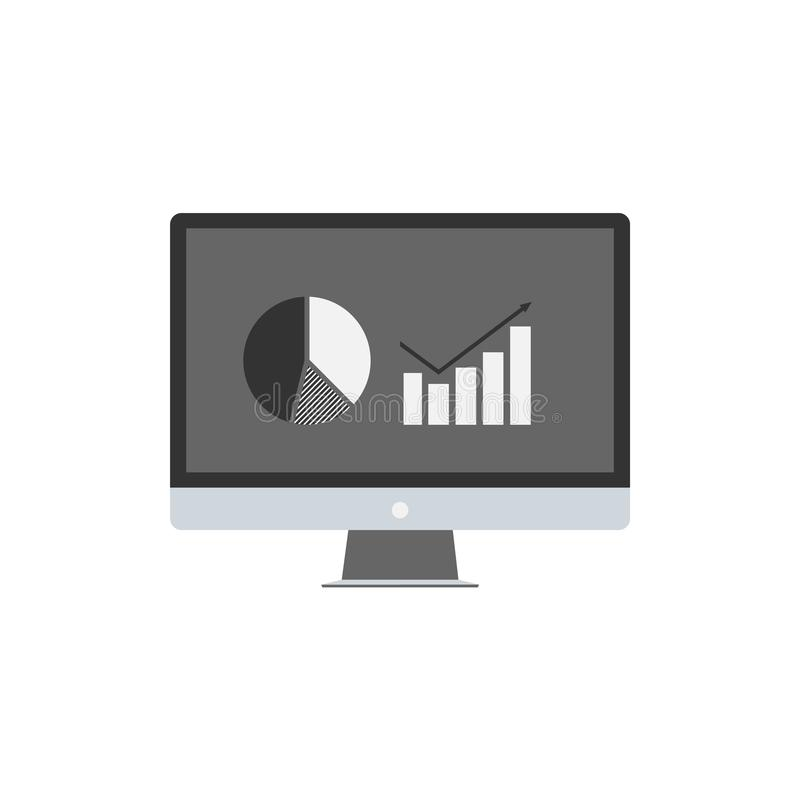 Infographic screen statistics. Infographic on screen stock image