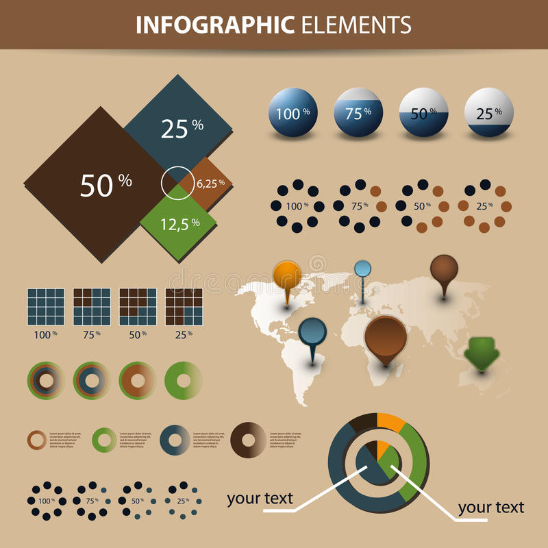 infographic set royalty ilustracja