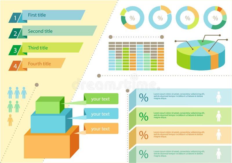 Infographic Set Flat Design Business stock illustration