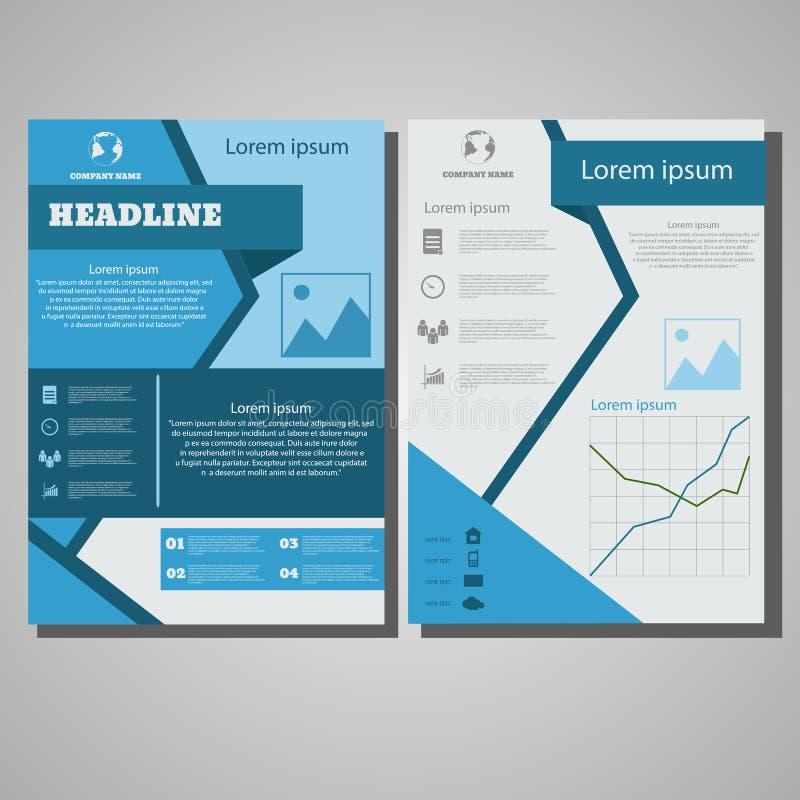 Infographic slösar mallen för orienteringen för broschyrreklambladdesignen, formatet A4, royaltyfri illustrationer